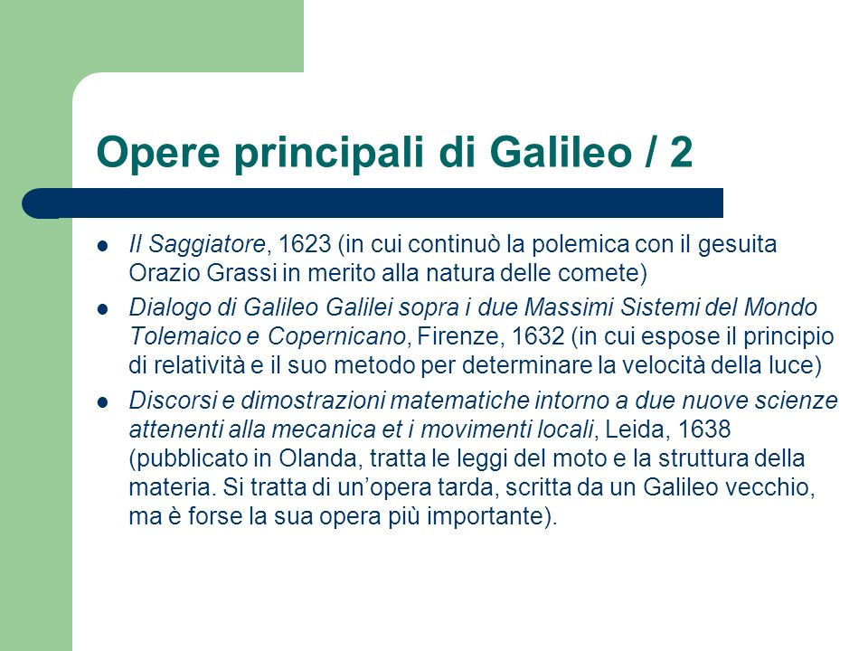 Opere principali di Galileo / 2