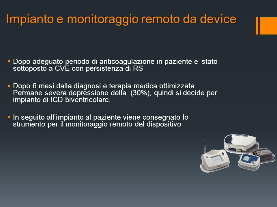 Impianto e monitoraggio remoto da device