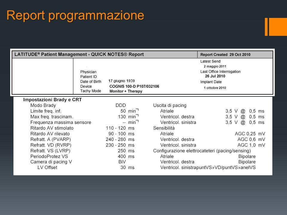 Report programmazione