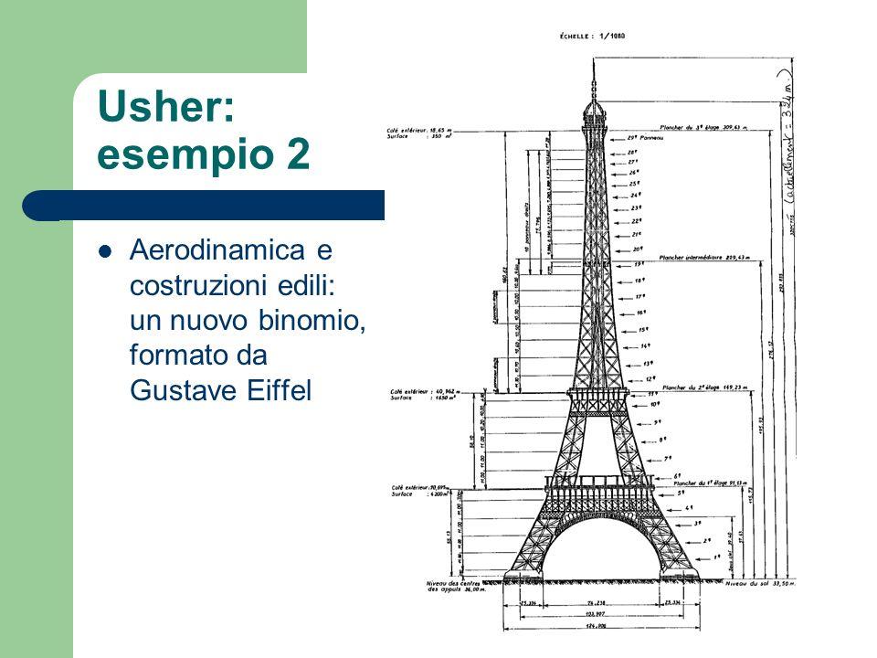 Usher: esempio 2 Aerodinamica e costruzioni edili: un nuovo binomio, formato da Gustave Eiffel