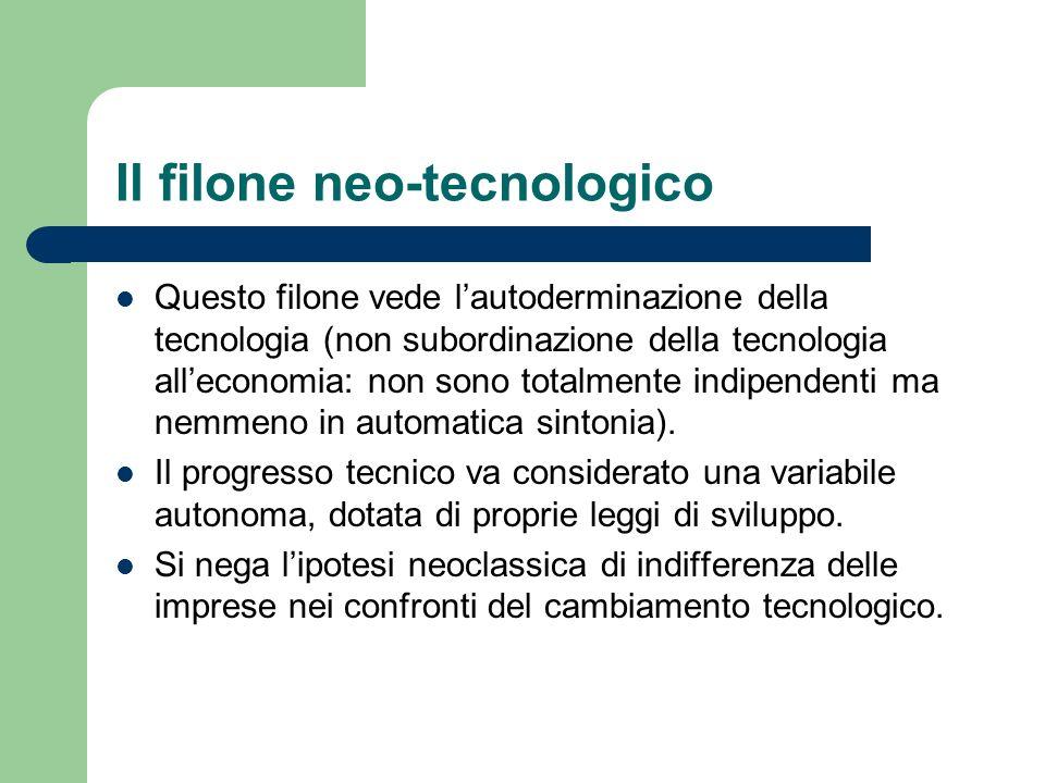 Il filone neo-tecnologico