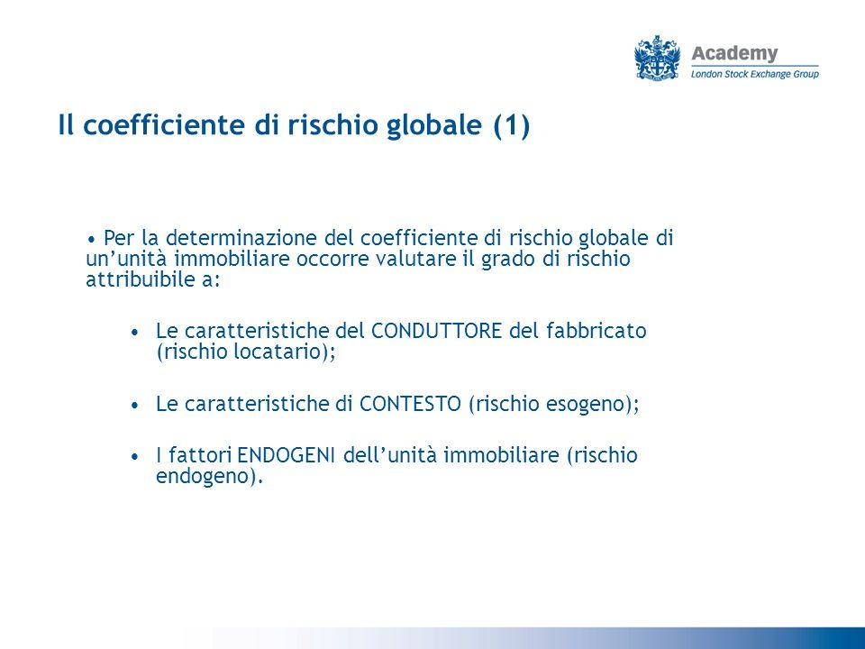 Il coefficiente di rischio globale (1)
