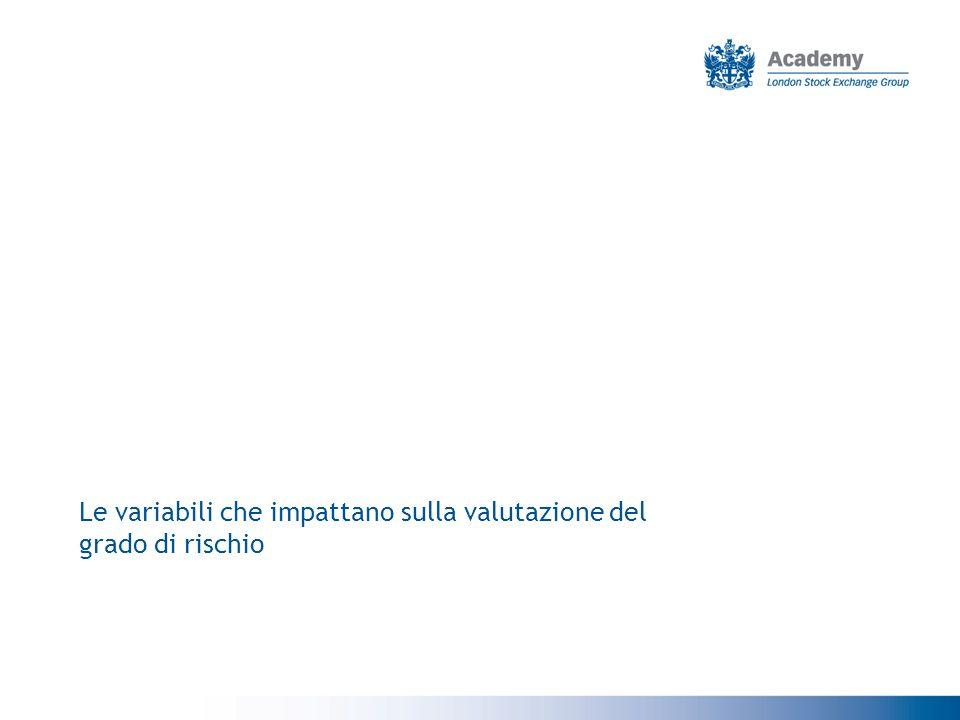 Le variabili che impattano sulla valutazione del grado di rischio