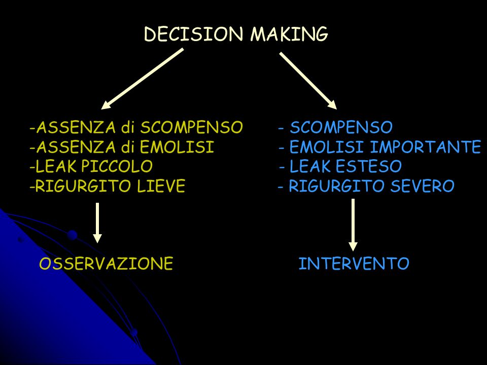 DECISION MAKING ASSENZA di SCOMPENSO - SCOMPENSO