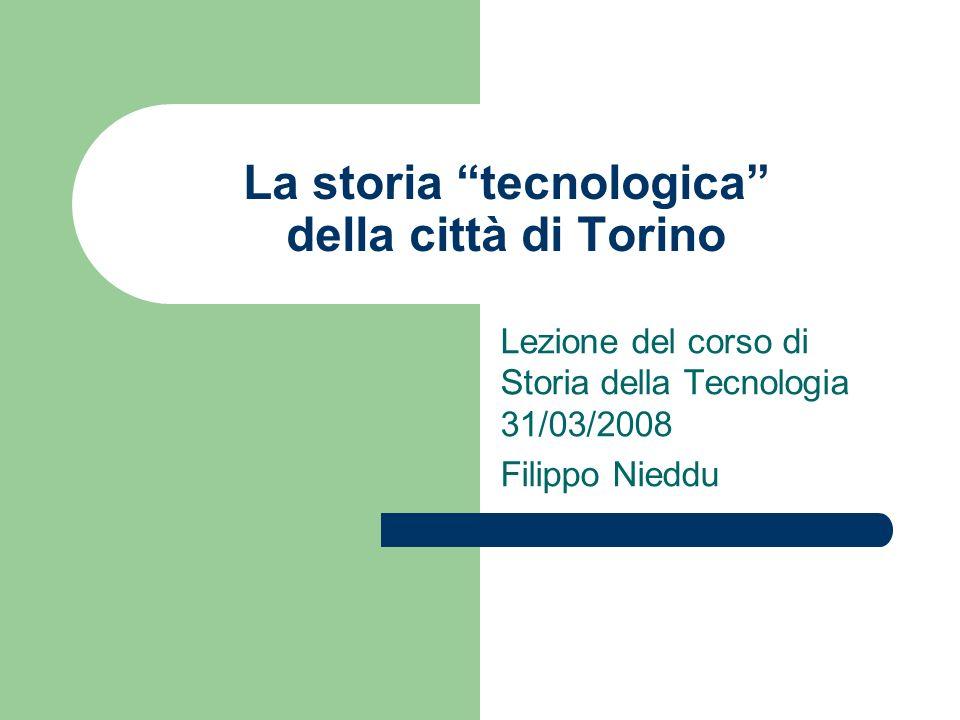 La storia tecnologica della città di Torino