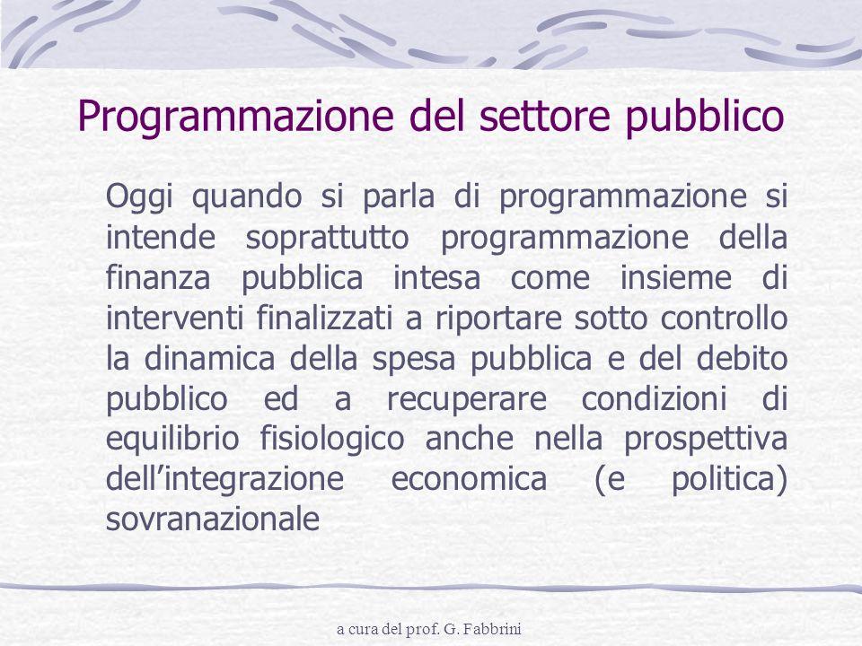 Programmazione del settore pubblico