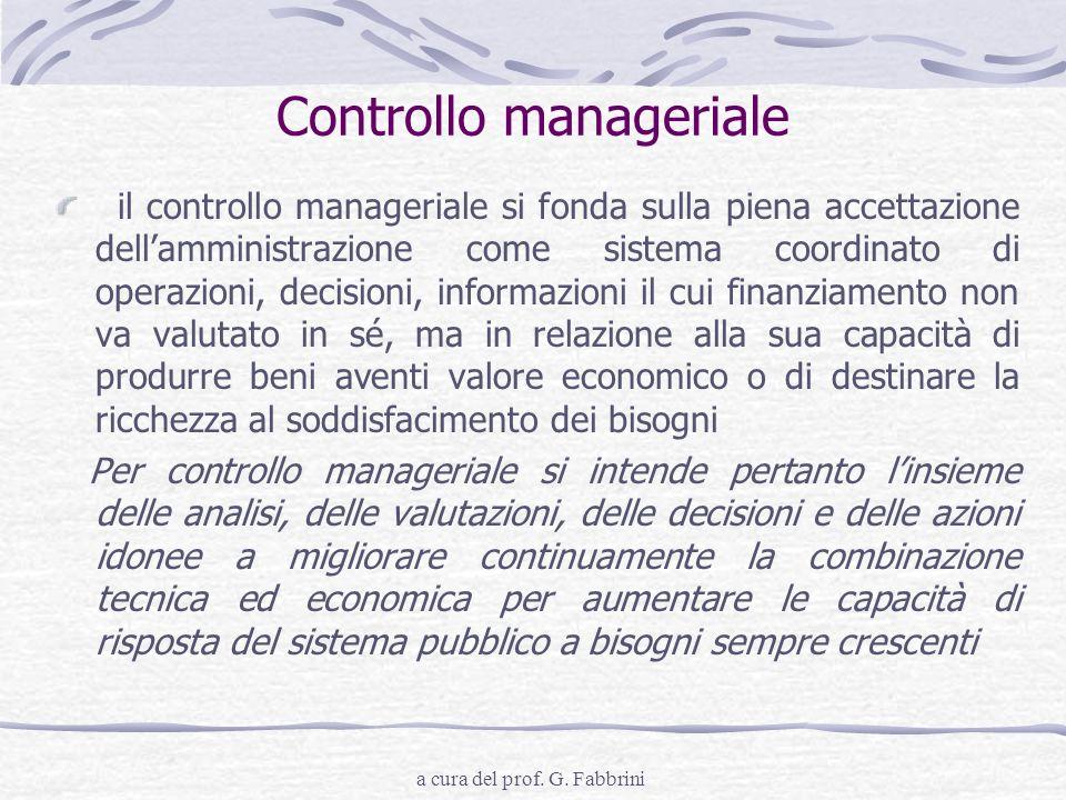 Controllo manageriale