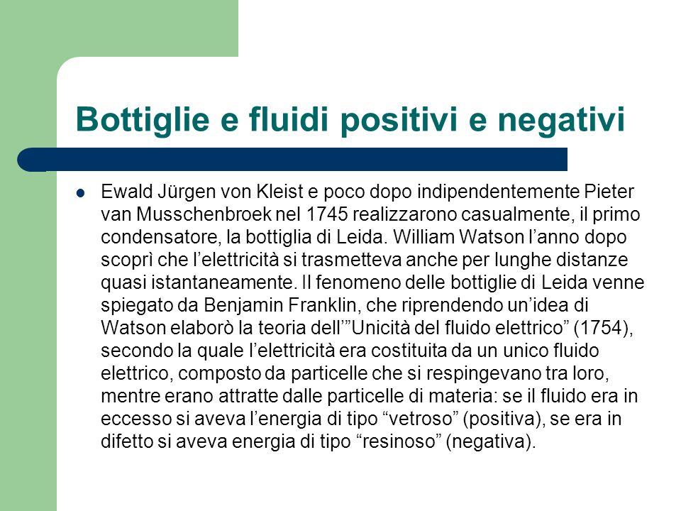 Bottiglie e fluidi positivi e negativi