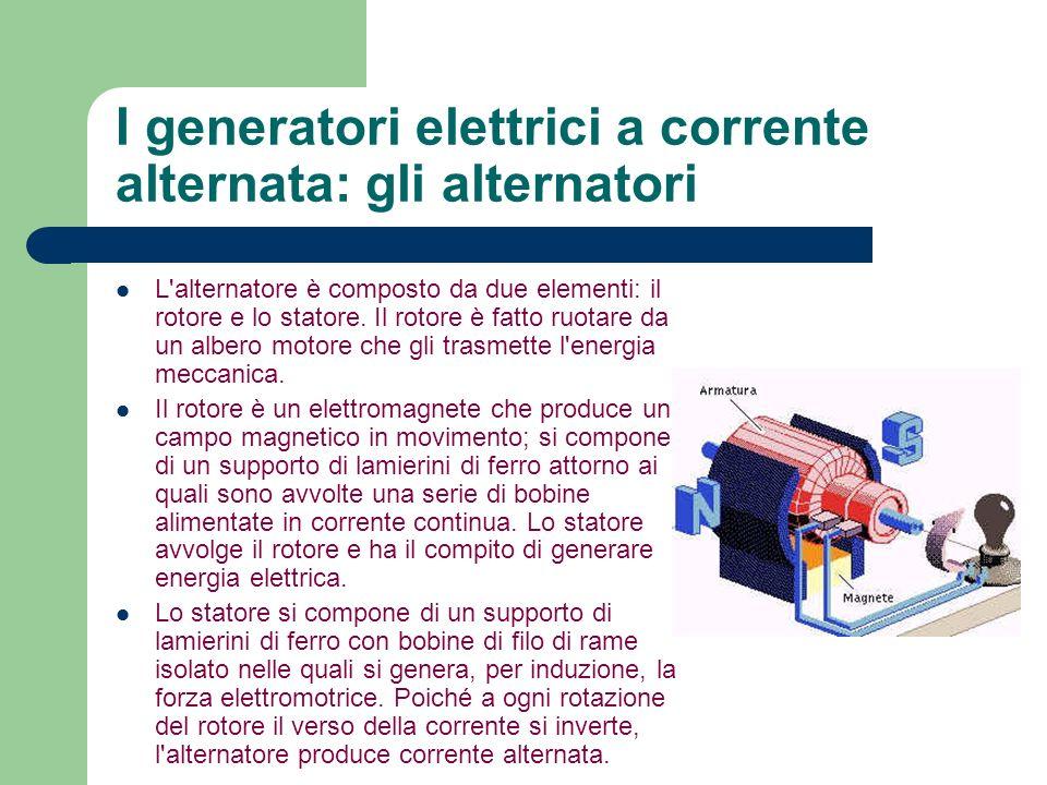 I generatori elettrici a corrente alternata: gli alternatori
