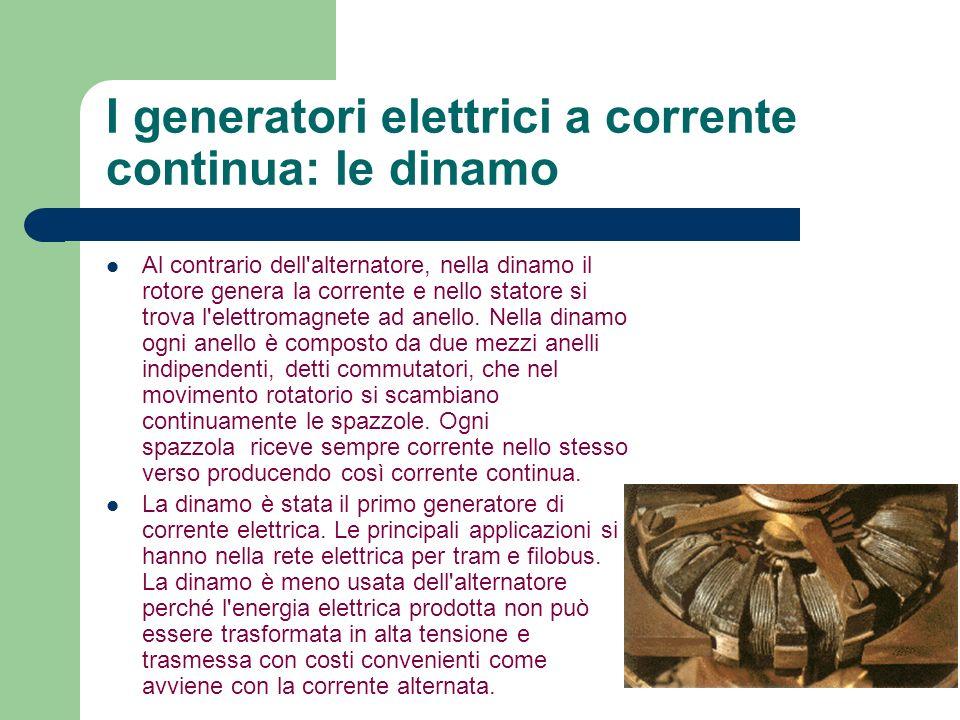 I generatori elettrici a corrente continua: le dinamo
