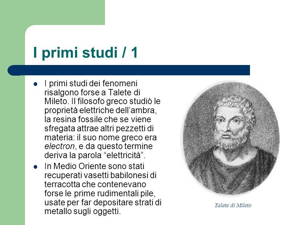 I primi studi / 1