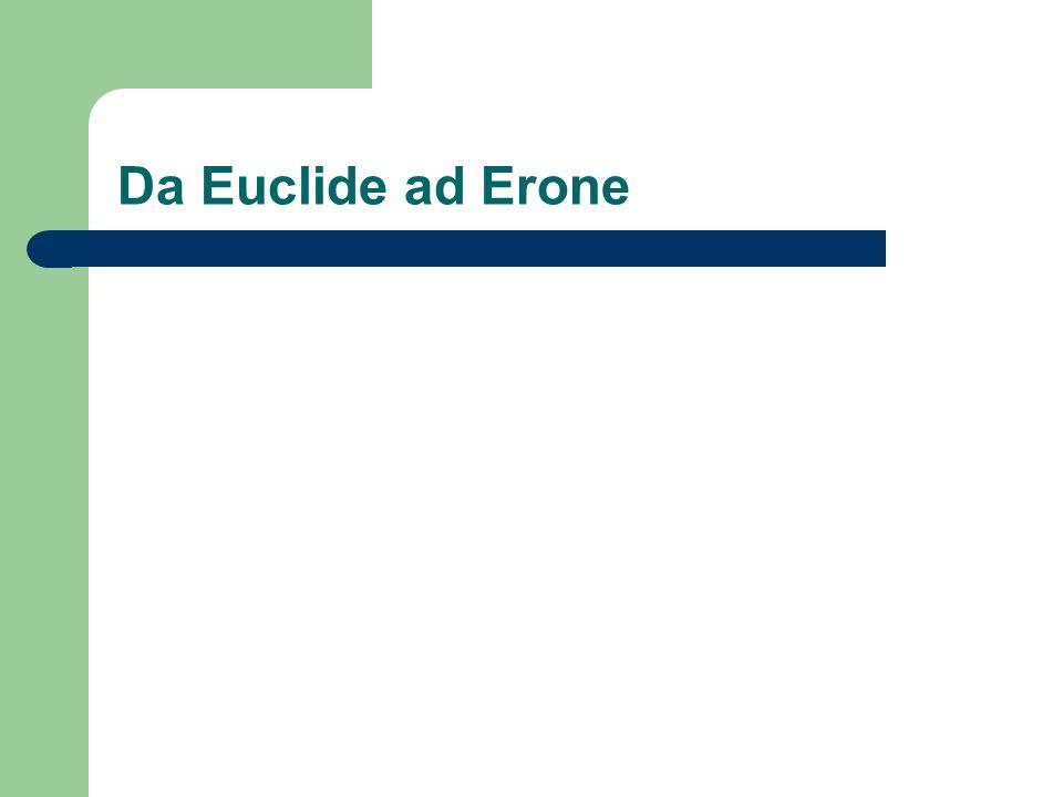 Da Euclide ad Erone