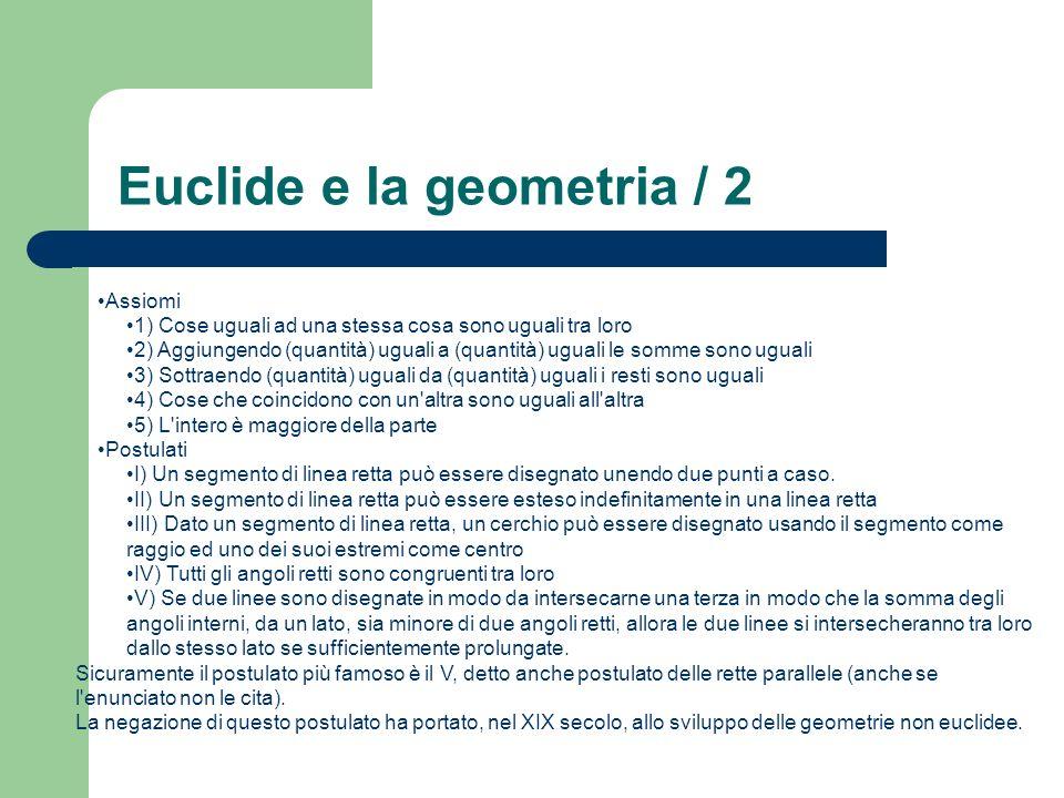 Euclide e la geometria / 2
