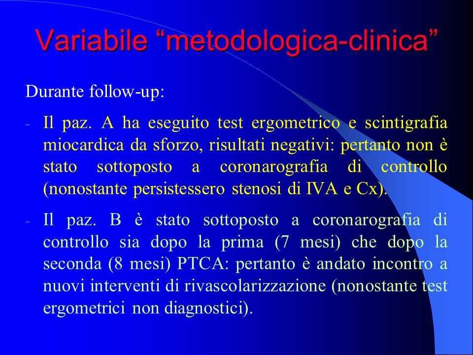 Variabile metodologica-clinica
