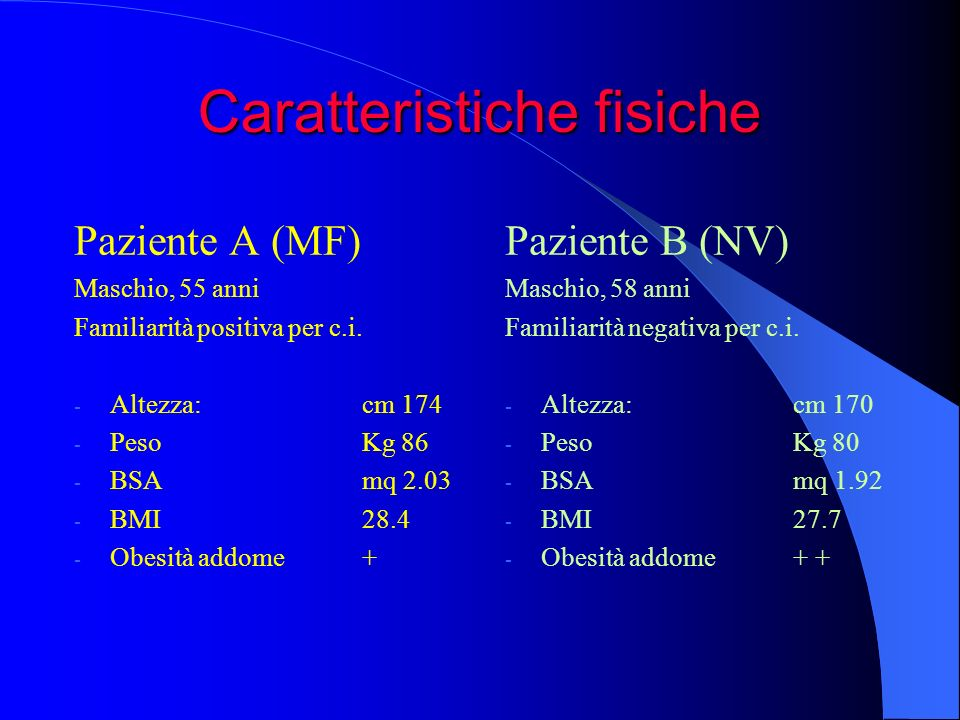 Caratteristiche fisiche