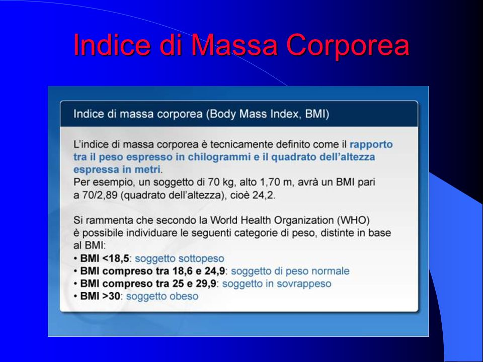 Indice di Massa Corporea