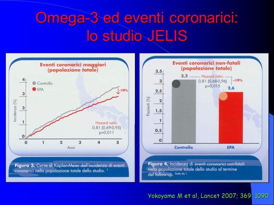 Omega-3 ed eventi coronarici: lo studio JELIS