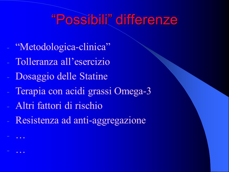 Possibili differenze
