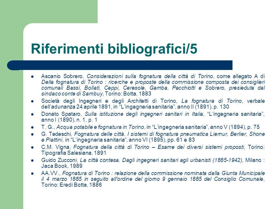 Riferimenti bibliografici/5