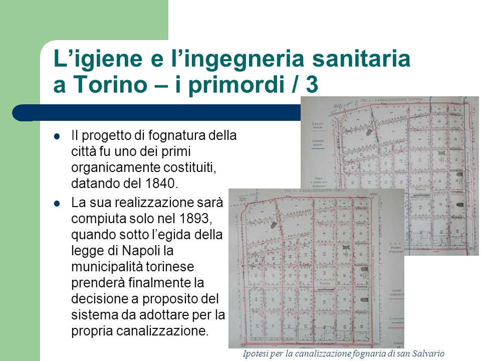 L'igiene e l'ingegneria sanitaria a Torino – i primordi / 3