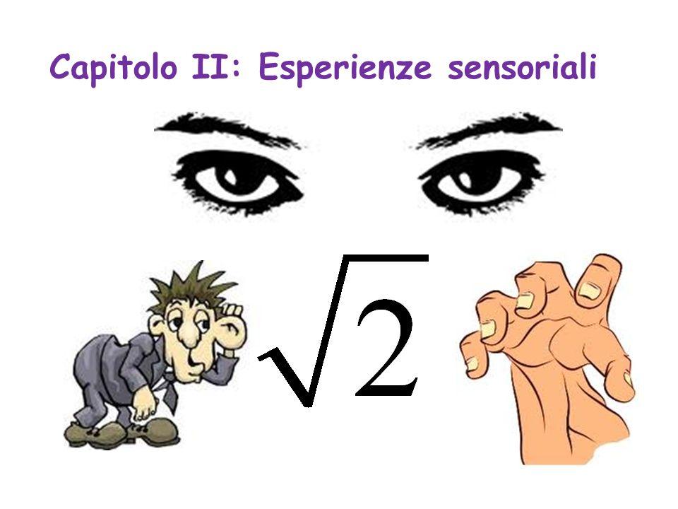 Capitolo II: Esperienze sensoriali