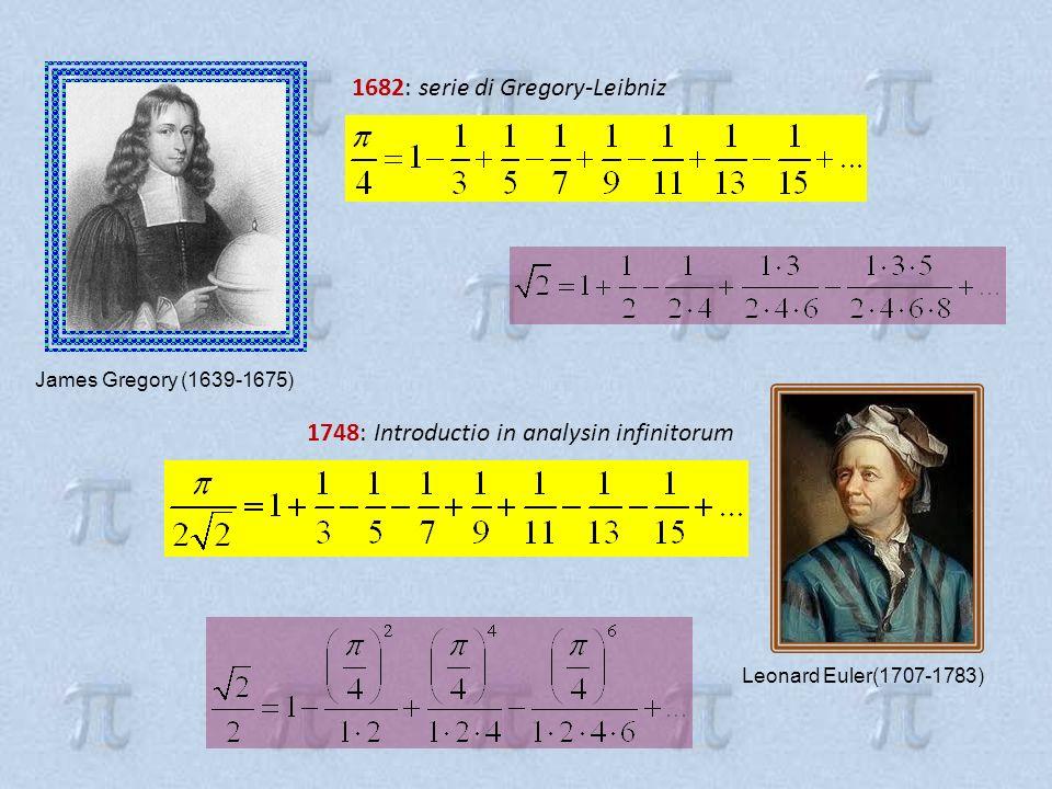 1682: serie di Gregory-Leibniz