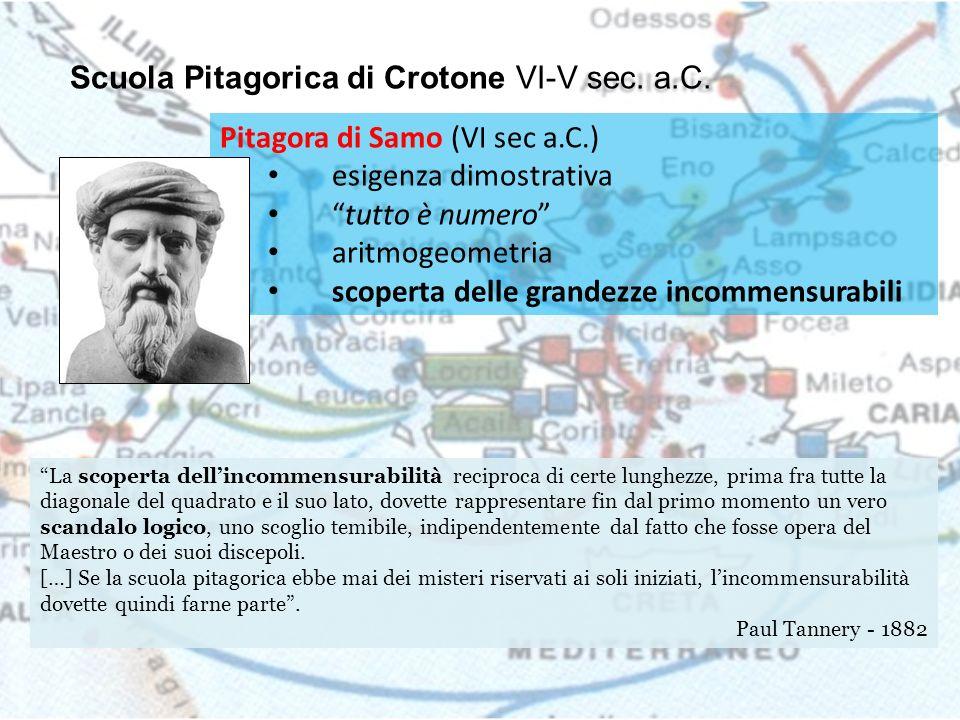 Scuola Pitagorica di Crotone VI-V sec. a.C.