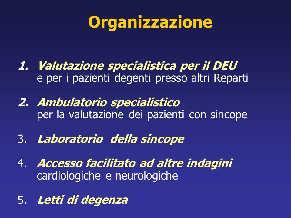 Organizzazione Valutazione specialistica per il DEU