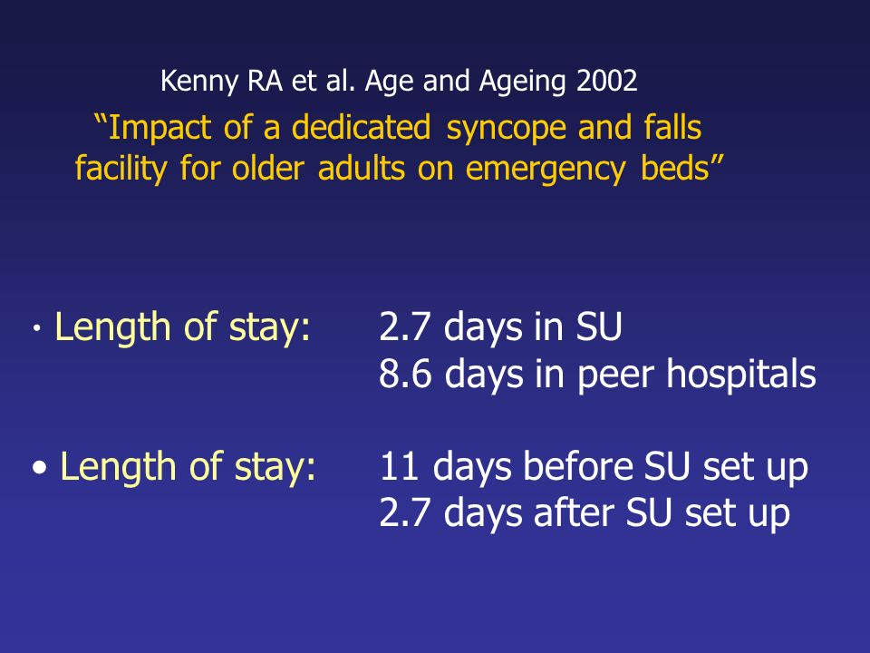 Kenny RA et al. Age and Ageing 2002