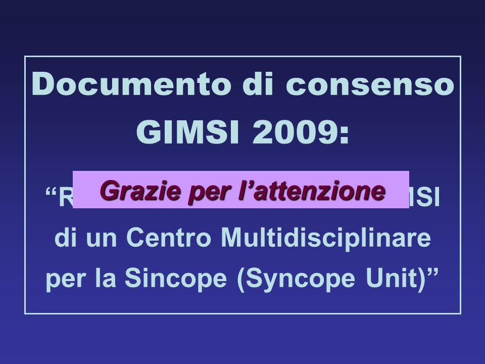 Documento di consenso GIMSI 2009: Grazie per l'attenzione