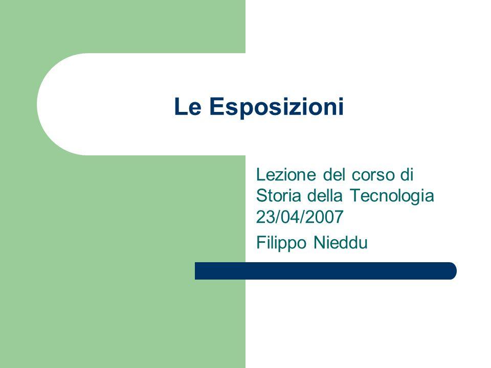 Lezione del corso di Storia della Tecnologia 23/04/2007 Filippo Nieddu