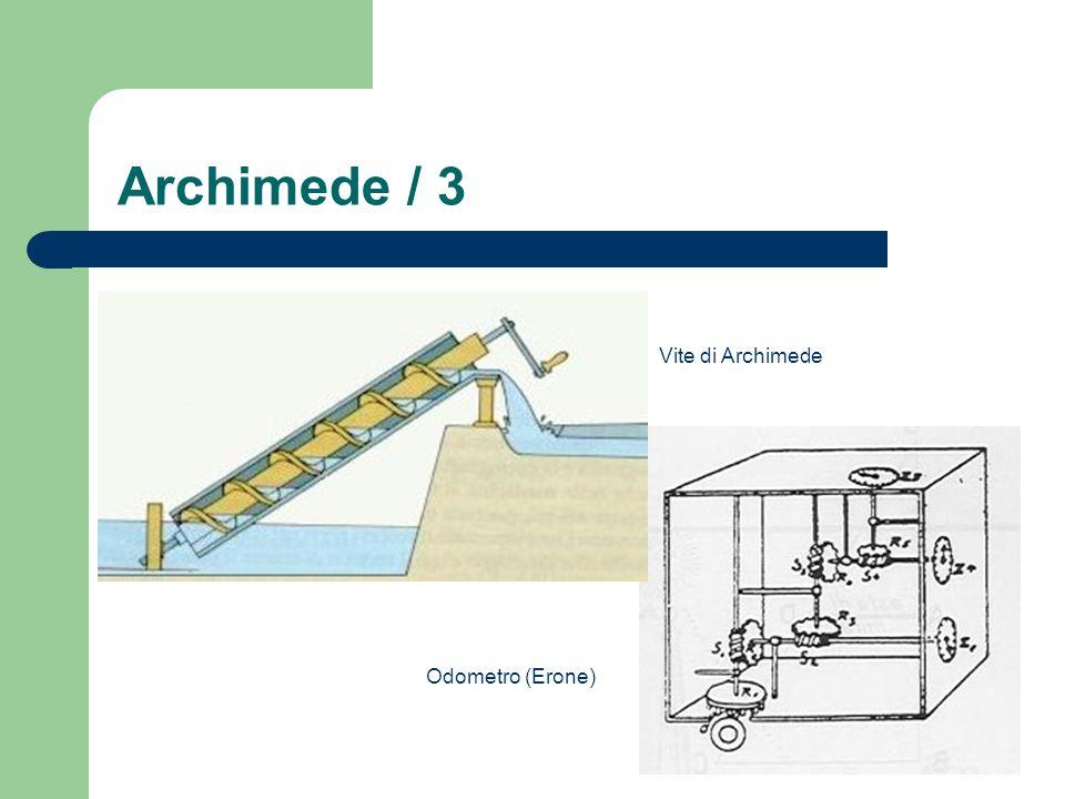 Archimede / 3 Vite di Archimede Odometro (Erone)
