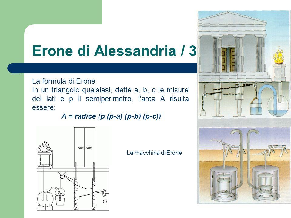 Erone di Alessandria / 3 La formula di Erone