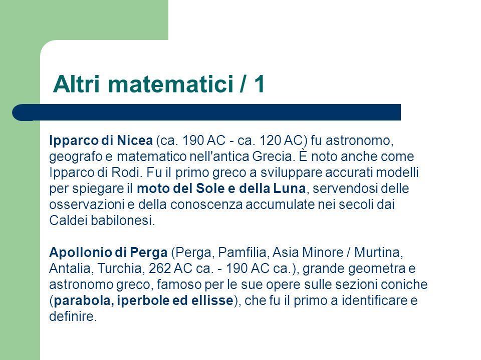 Altri matematici / 1