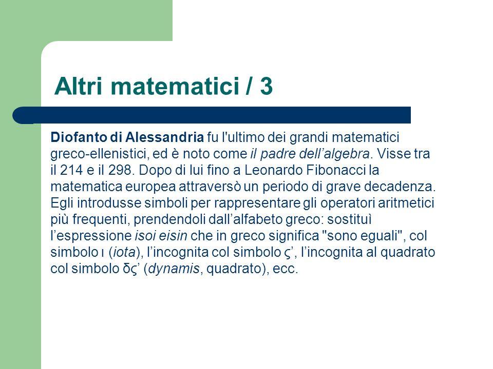 Altri matematici / 3