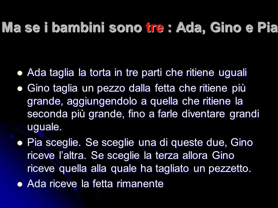 Ma se i bambini sono tre : Ada, Gino e Pia