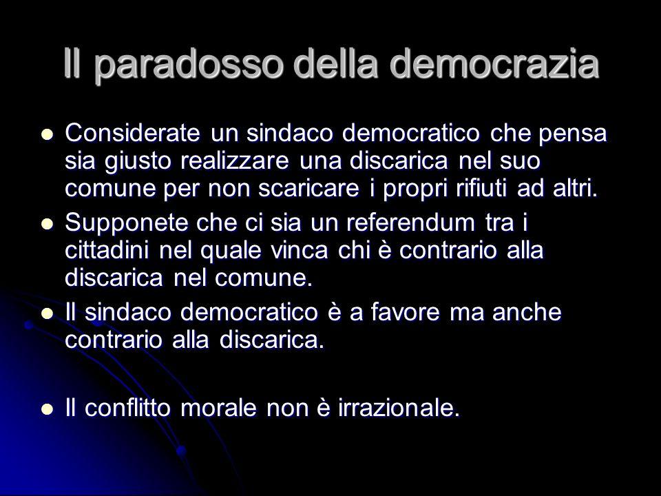 Il paradosso della democrazia