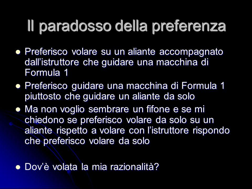 Il paradosso della preferenza