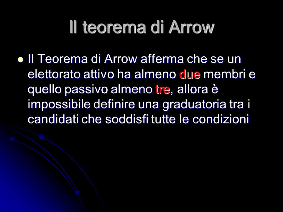 Il teorema di Arrow