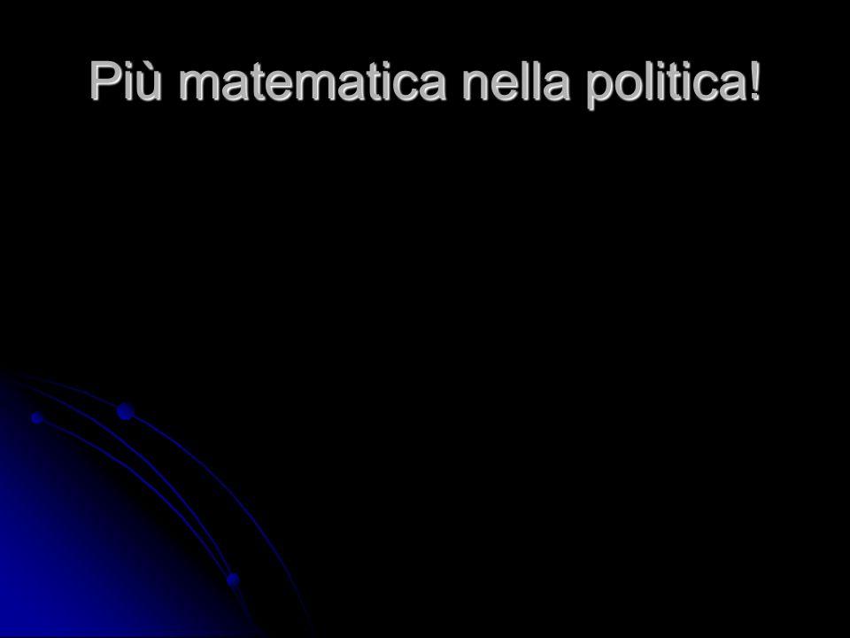 Più matematica nella politica!