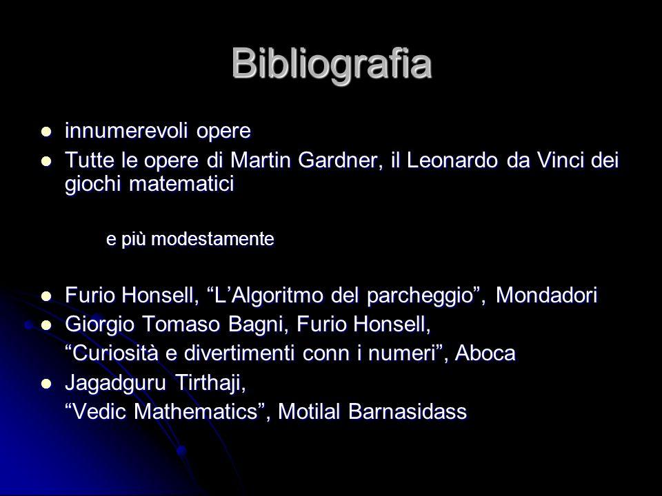 Bibliografia innumerevoli opere