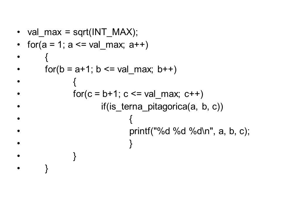 val_max = sqrt(INT_MAX);