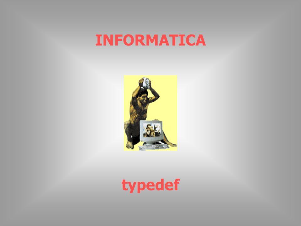 INFORMATICA typedef