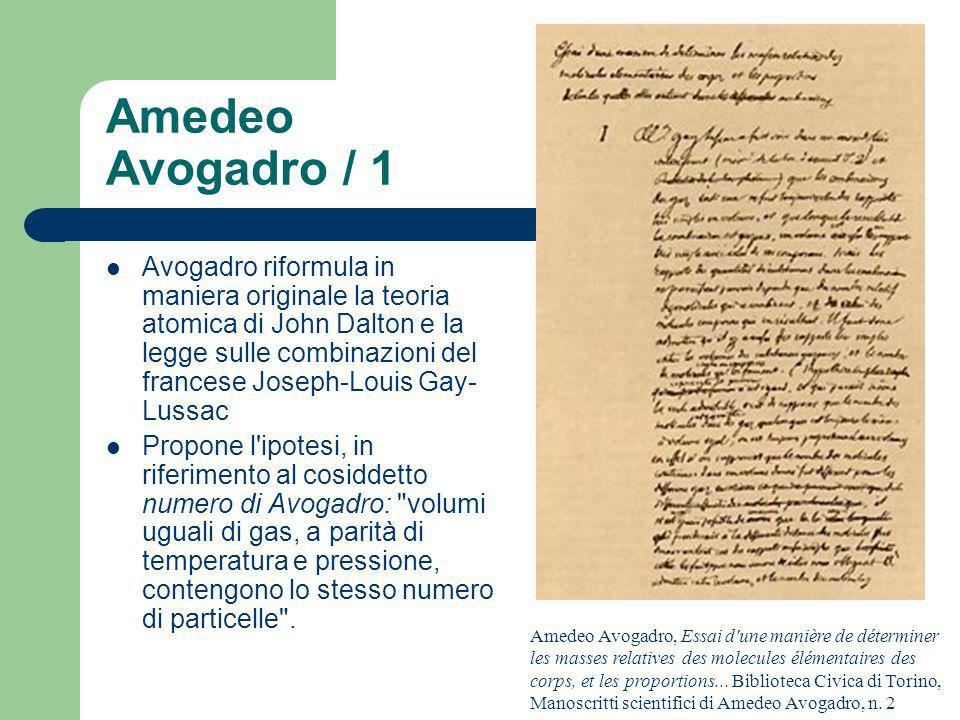 Amedeo Avogadro / 1