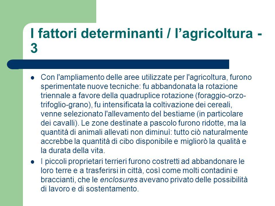 I fattori determinanti / l'agricoltura - 3