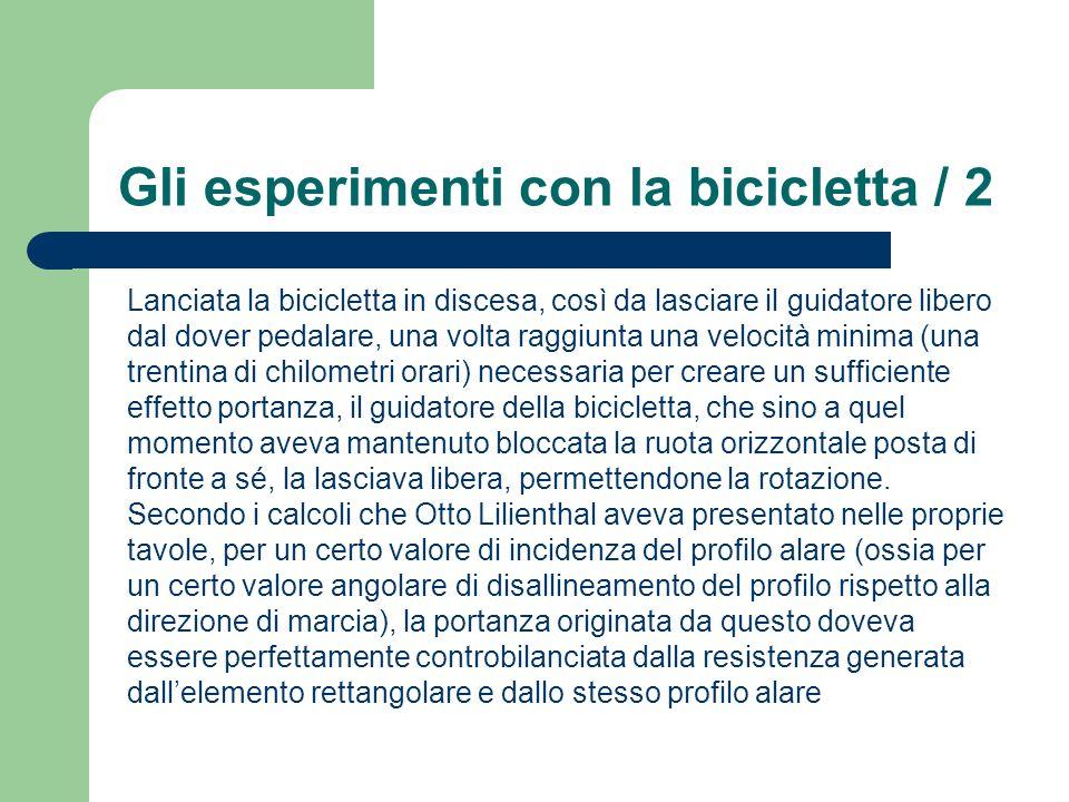 Gli esperimenti con la bicicletta / 2