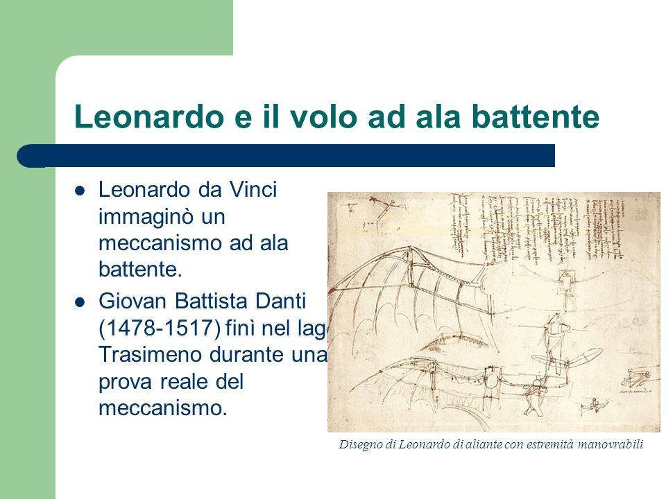 Leonardo e il volo ad ala battente
