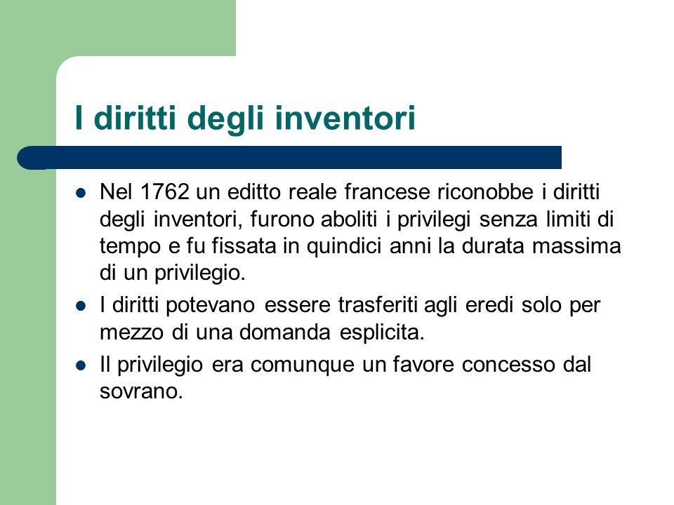 I diritti degli inventori