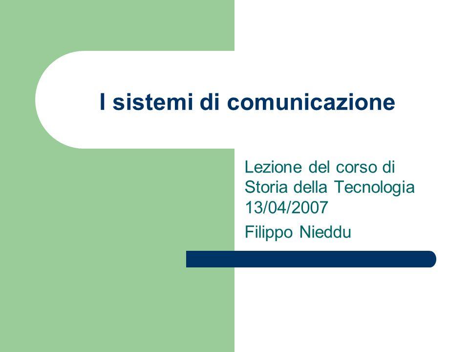 I sistemi di comunicazione