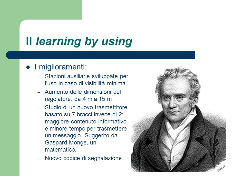 Il learning by using I miglioramenti: